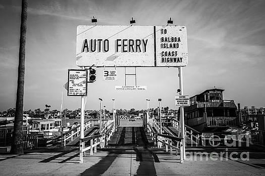 Paul Velgos - Balboa Island Ferry Black and White Picture