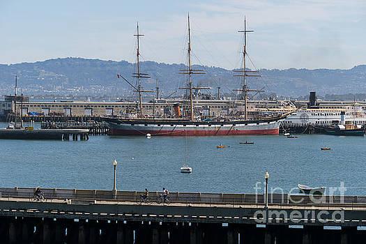 Wingsdomain Art and Photography - Balclutha Cargo Ship At Hyde Street Pier San Francisco California DSC3180