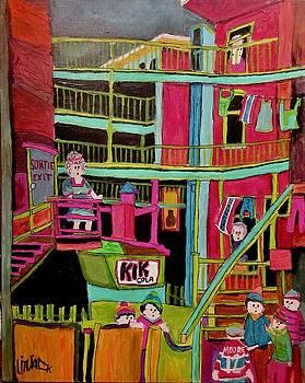 Balconville Montreal by Michael Litvack