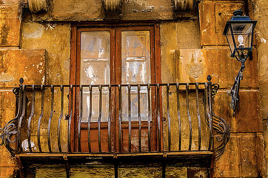 Balcony and lamp Palermo Sicily by Xavier Cardell