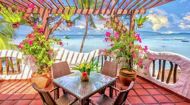 Balcony by the Sea by Cheryl Ramalho