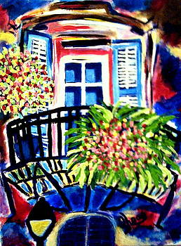 Balcony French Quarter by Ted Hebbler