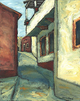 Balcony Street Scene by Susan Adame