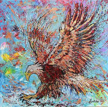 Bald Eagle Hunting by Jyotika Shroff