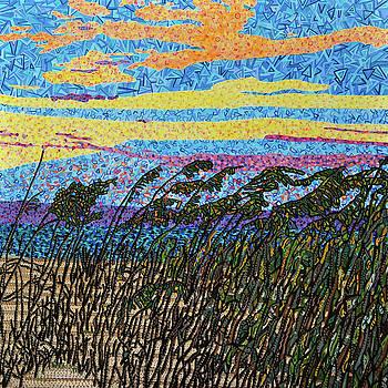 Bald Head Island, Sea Oat Sunset by Micah Mullen