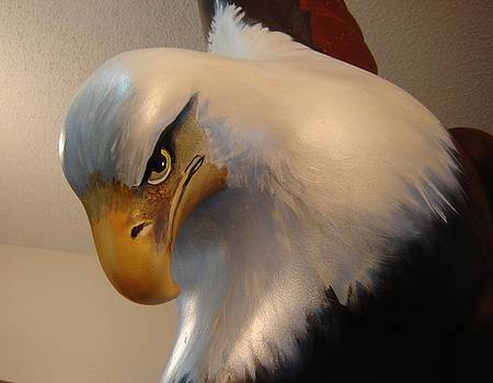 Bald-Headed Eagle Sculpture by Catherine Robertson