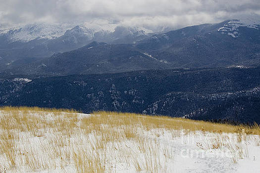 Steve Krull - Bald Mountain and Storm Clouds on Pikes Peak Colorado