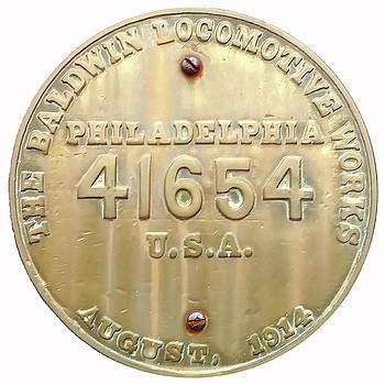Baldwin Steam Loco Plate by Pat Turner