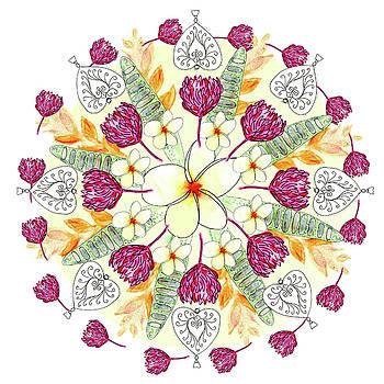 Bali Inspired Mandala I by Louise Gale