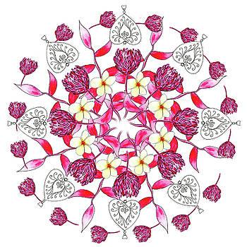 Bali Inspired Mandala II by Louise Gale