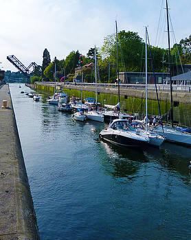Ballard Locks in Seatle by Susan Porter