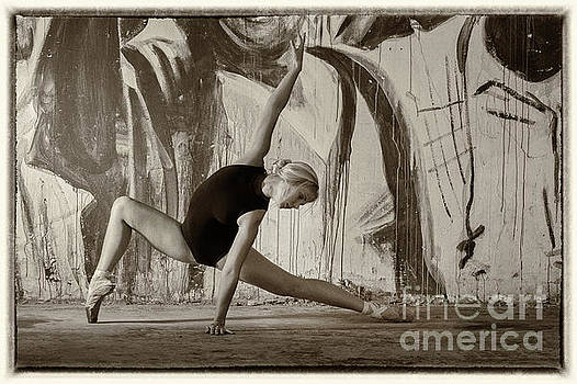 Ballerina and grungy background by Michael Edwards