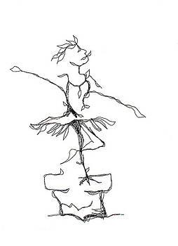 Ballerina- Cracked Pot by Doug Johnson