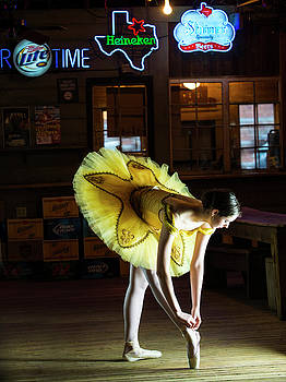 Ballerina in a Bar by Roy Nierdieck
