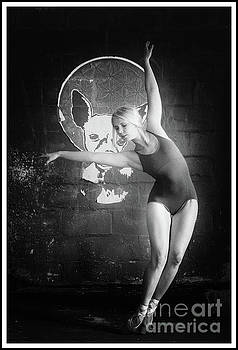 Ballerina in black and white by Michael Edwards