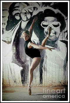 Ballerina in in action by Michael Edwards