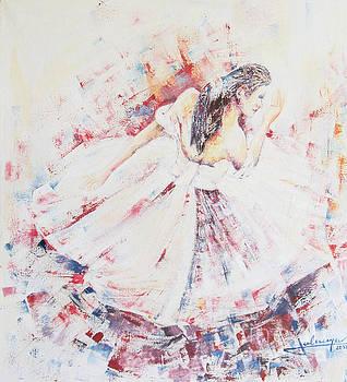 Ballerina In Red by Jovica Kostic