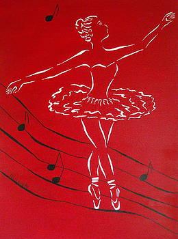 Ballerina In Red by Pamela Allegretto