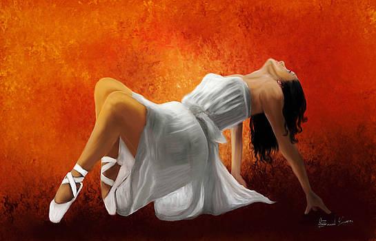 Ballerina in White by Sannel Larson