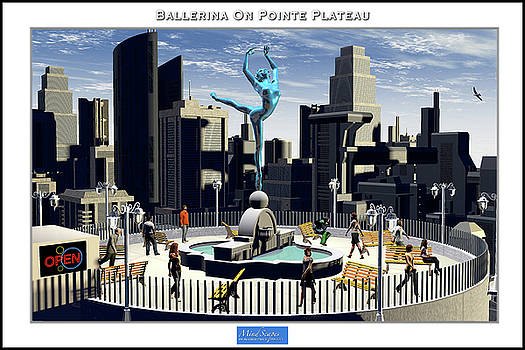 Ballerina On Pointe Plateau by Alfred Price