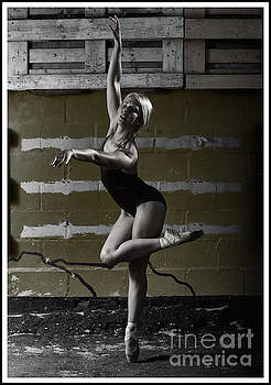 Ballerina outdoors by Michael Edwards