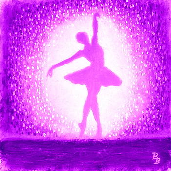Ballerina Purple and Pink by Bob Baker