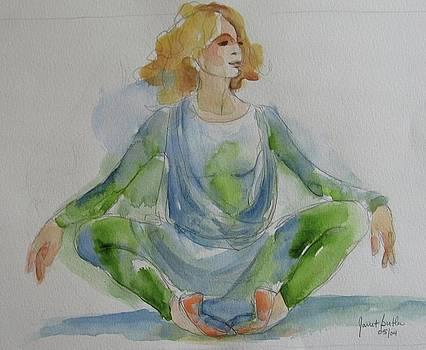 Ballerina resting by Janet Butler