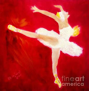 Ballerina Totally On Fire by Richard W Linford