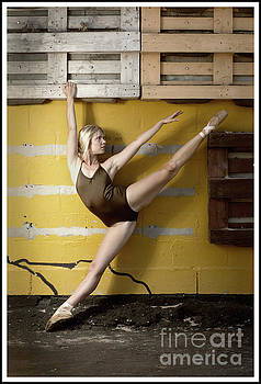 Ballerina with a colorful background by Michael Edwards