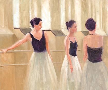 Ballerinas Waiting by Margaret Aycock