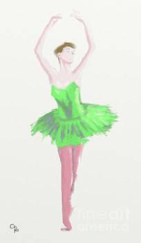 Ballet in Green 4 by Arlene Babad