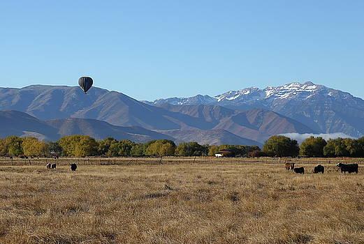 Balloon over Mountain Valley by Jim Allsopp