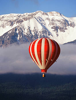 Balloon Over Wallowa by Eric Tworivers