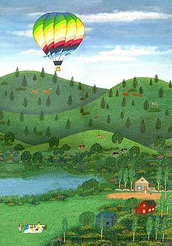 Linda Mears - Ballooning Eight panel two of two