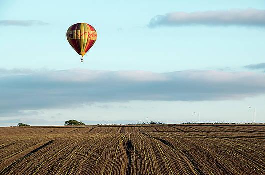 Ballooning over farmland by Susan Tinsley