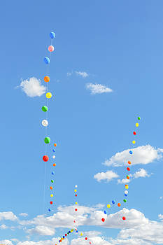 Balloons And Sky by Debi Bishop