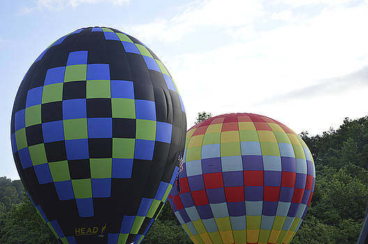 Balloons Waiting for the Weather to Clear by Linda Geiger