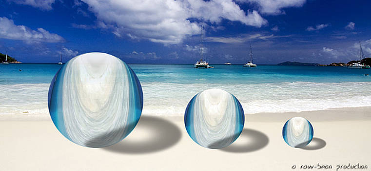 Balls on the beach  by Robin Zhuo