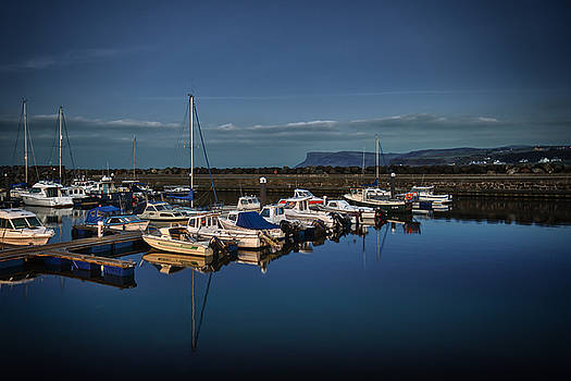 Ballycastle harbour by Alex Leonard