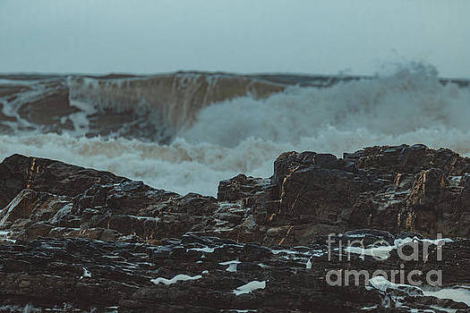 Ballyquinn Beach waves 1 by Marc Daly