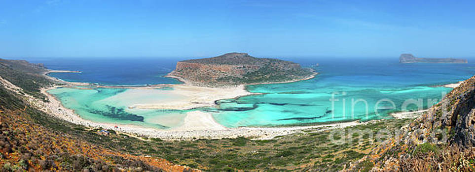 Balos beach panorama by Delphimages Photo Creations