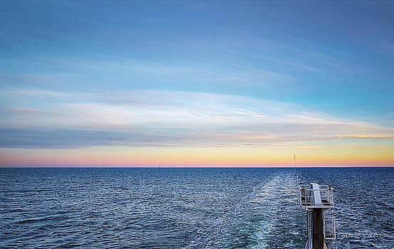 Baltic Sea. A look back towards Poland by Laura Denis