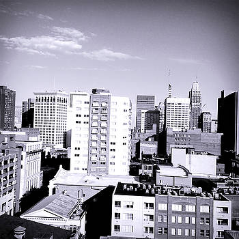 Baltimore City From The Roof TOp by Debra Lynch