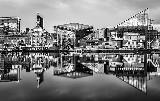 Baltimore in Black and White by Wayne King