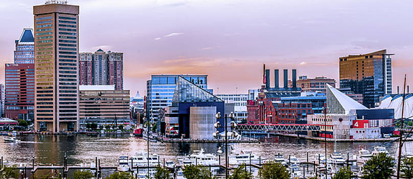 Baltimore in Purple and Orange by Wayne King