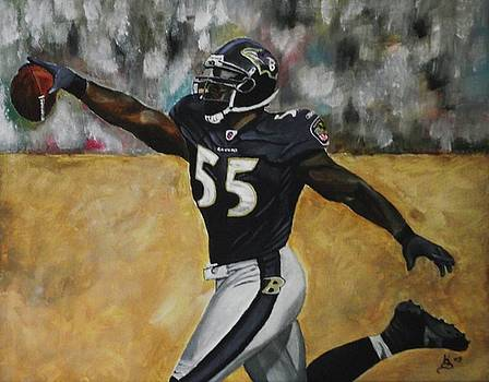 Baltimore Ravens Terrell Suggs by Kim Selig