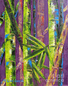 Bamboo by Pallet Knife by Lisa Boyd