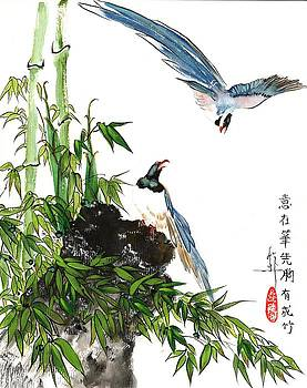 LINDA SMITH - Bamboo with Birds