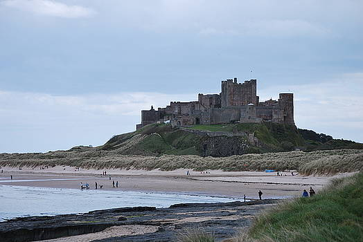 Bamburgh Castle by Cathy P Jones