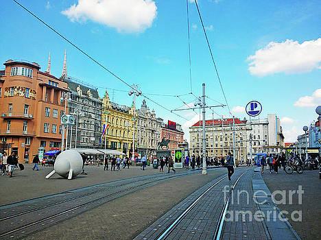 Ban Josip Jelacic Square - Zagreb, Croatia by Jasna Dragun